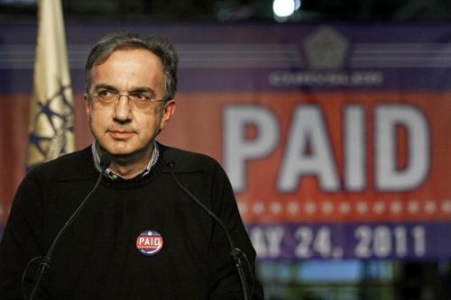 Sergio Marchionne AD Fiat, conferma i target per il 2011 di Fiat e Chrysler.