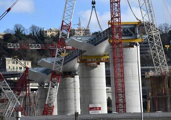 lavori di ricostruzione ponte morandi